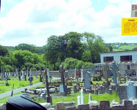 Graveyard with Celtic crosses