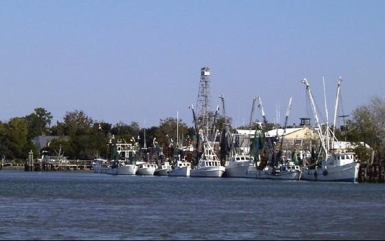 Shrimp boat docks from the ICW in 2003