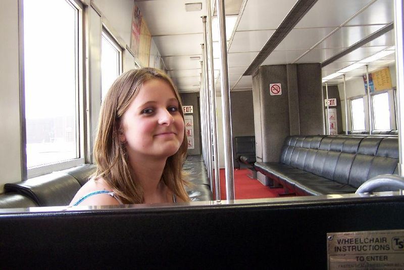 Granddaughter in people mover