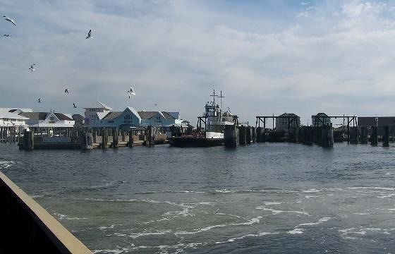 Leaving Hatteras by ferry