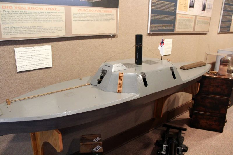 Scale model of the CSS Albemarle