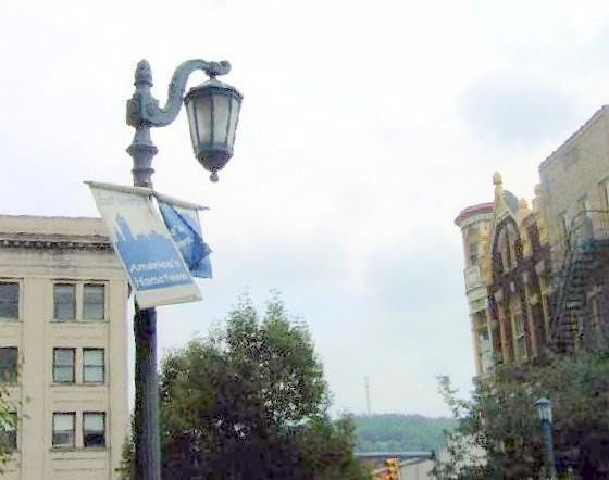 American's Hometown Banner on light posts