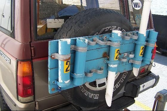 Rod holders for a car