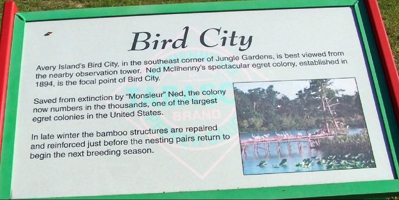 Bird City information sign