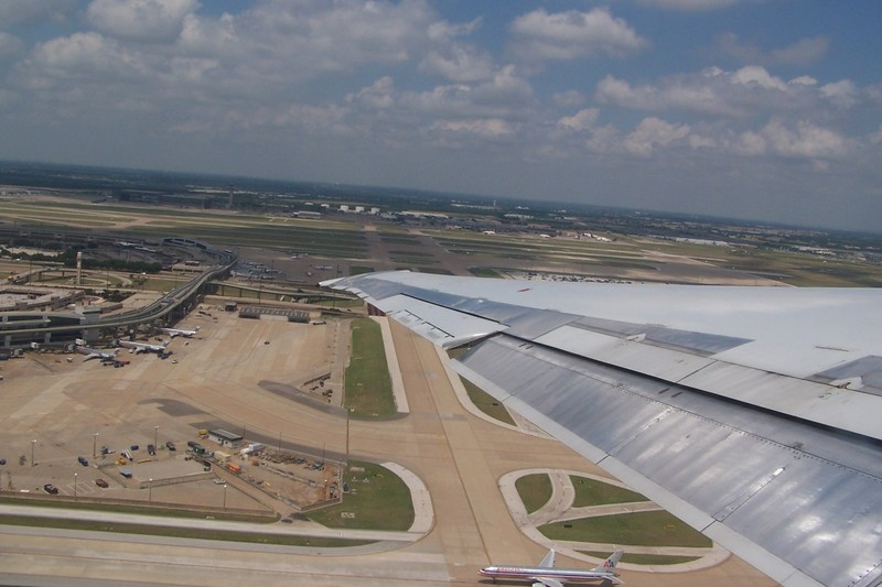 Taking off from DFW