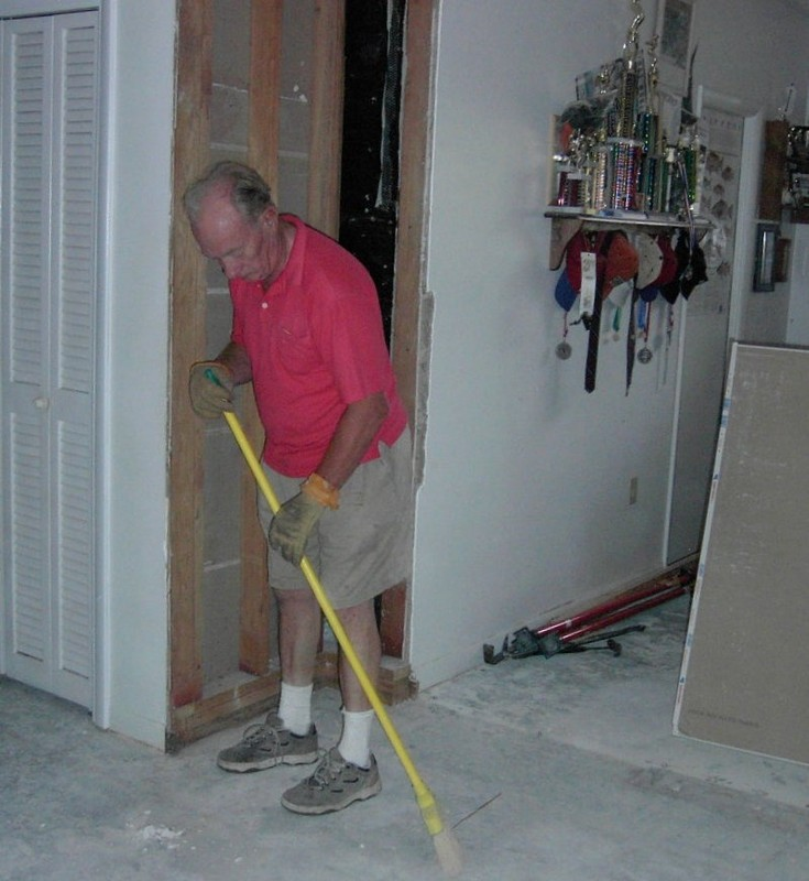 Bob cleaning