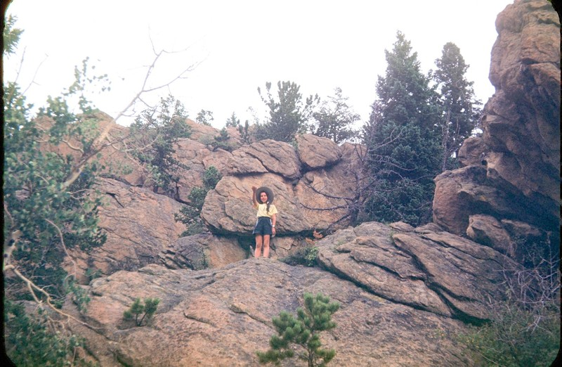 Me up on the rocks in Rocky Mountain National Park