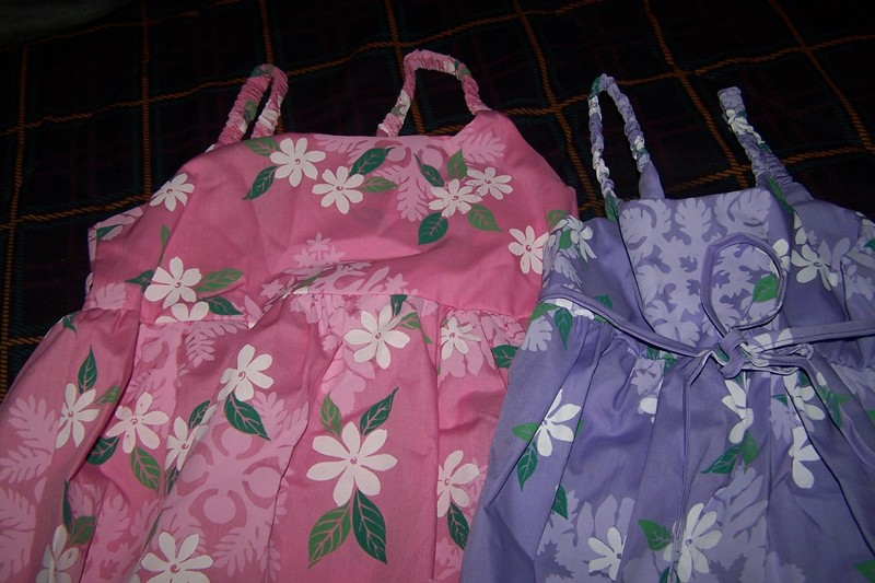 Dresses I bought for my granddaughters in Hawaii