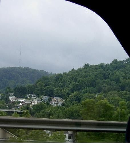 Morgantown from the highway