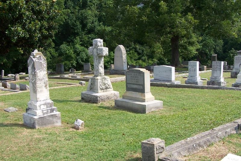Markers in the cemetery