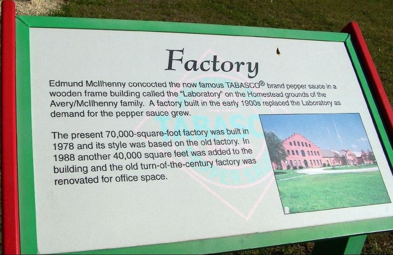 Sign about the factory