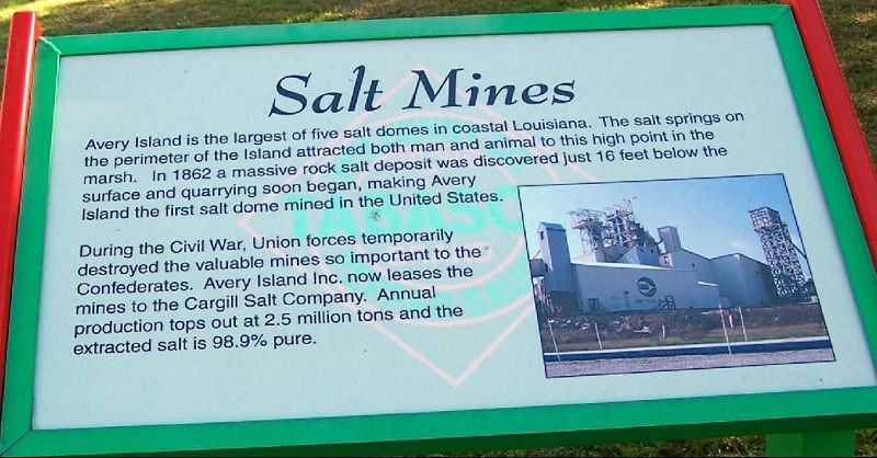 Salt mine sign