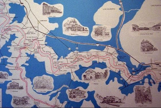 Map of the River Road plantations
