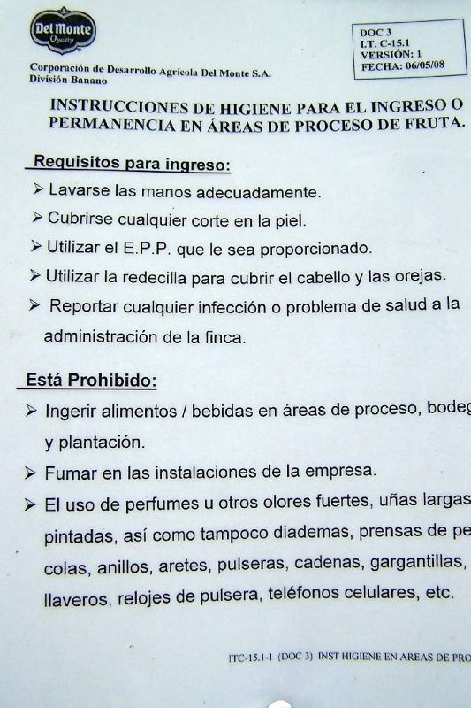 Spanish rules for workers