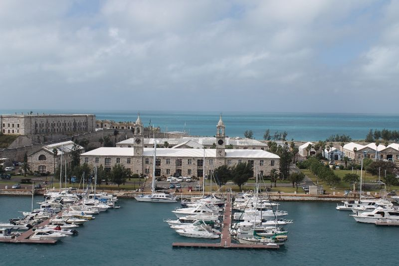Dockyard marina from the ship 2011 - Bermuda