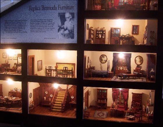 Dollhouse with cedar furnishings