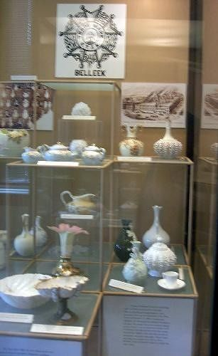 Belleck pottery - with a lacy texture