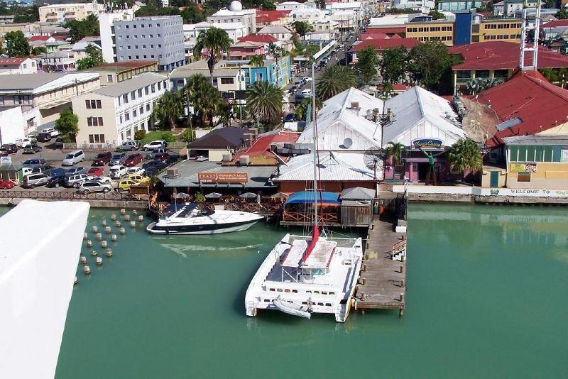 Huge catamaran at the dock