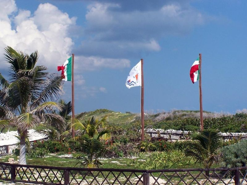 Flags on the reserve