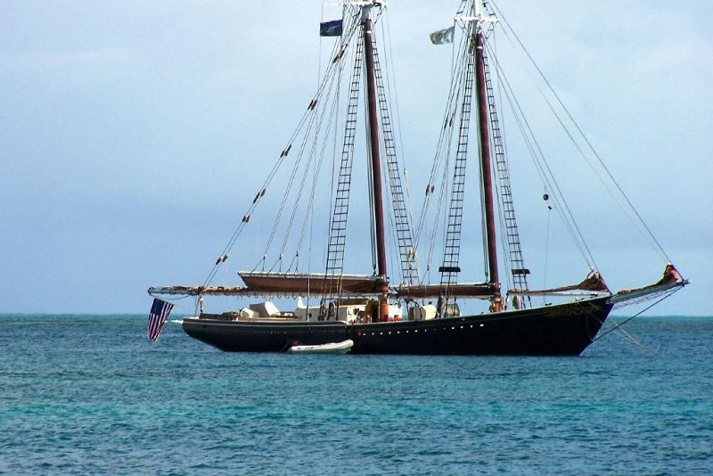 Ship in Christiansted harbor