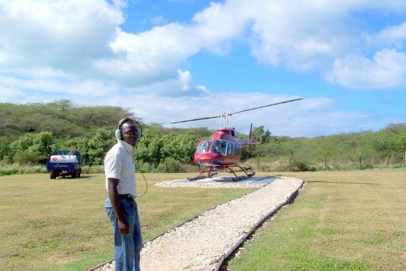 Heliport on Antigua