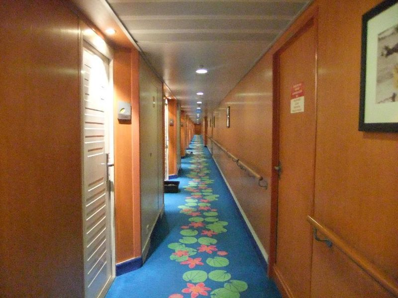 Corridor to our cabin