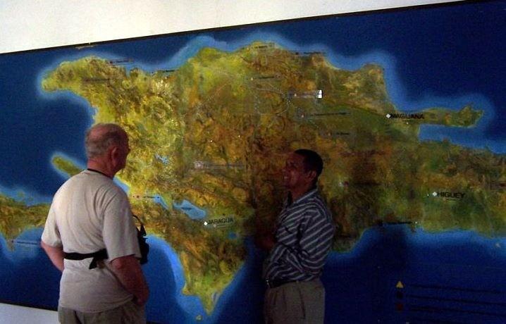 Bob looking at a map