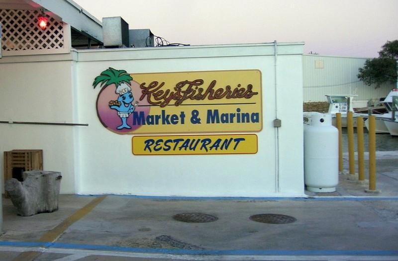 Sign - Keys Fisheries Market and Marina Restaurant