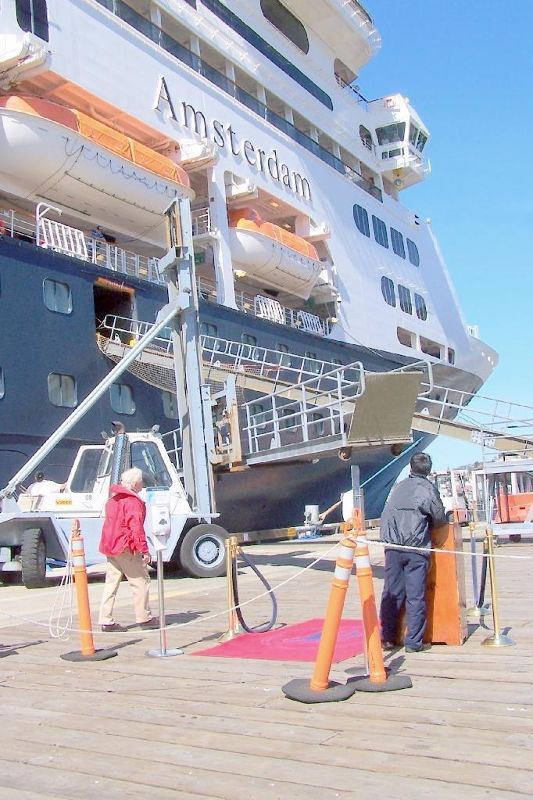 Moving the gangway
