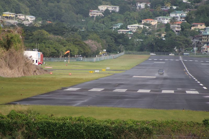 George F. L. Charles Airport runway