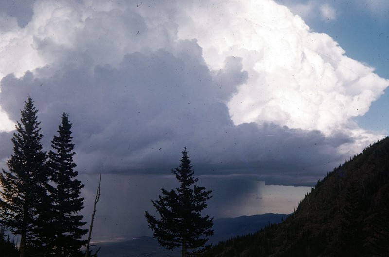 Hail storm over Wet Mountains from Sangre de Cristo