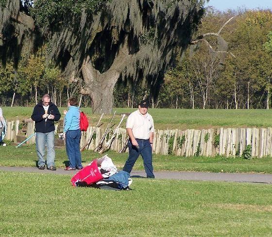 Folks enjoying the battlefield