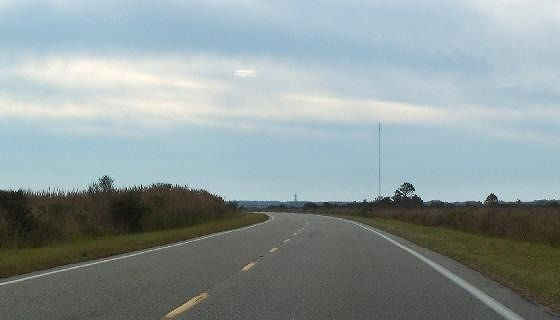 Highway approaching the lighthouse