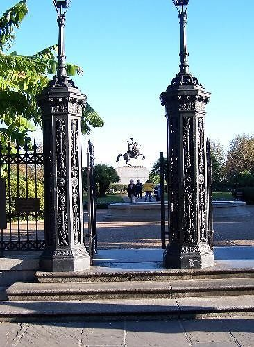 Iron Gates to Jackson Statue