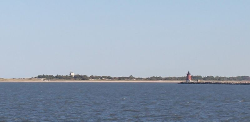 Breakwater lighthouse as we pass it