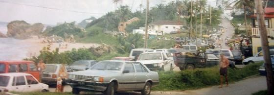Streets of Bathsheba during surfing competition