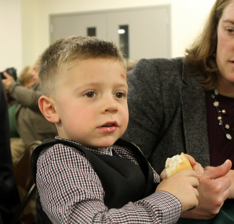 great grandson (MBs son) at the reception