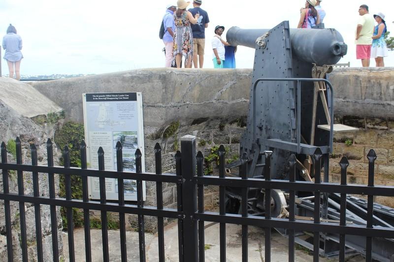 64 pounder Rifled Muzzle Loader Gun