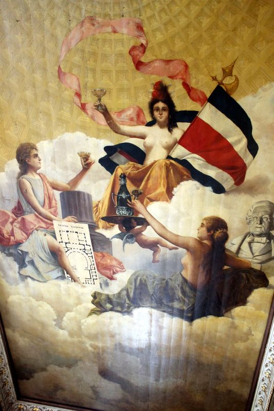 Ceiling in the Alma Cafe- Allegory of architecture