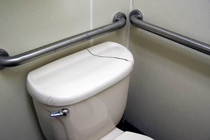Toilet in Wendy's ladies room
