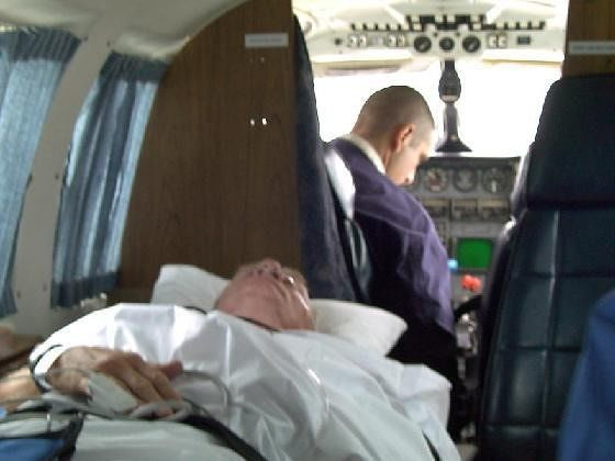 Bob in air ambulance
