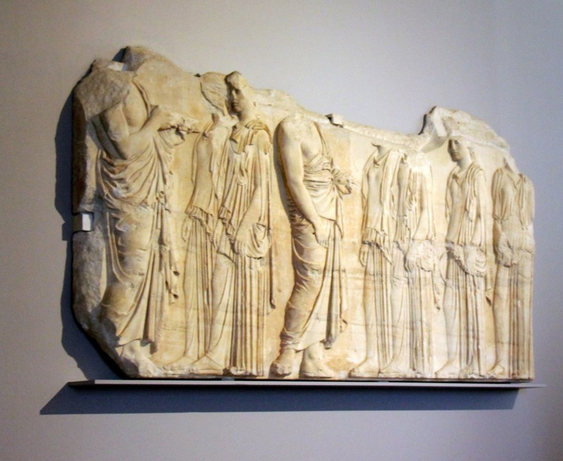 Plaque of the Ergastines, East Side Frieze, Parthenon