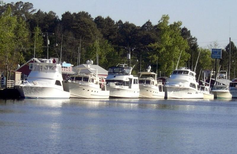 Boats docked to Coinjock marina