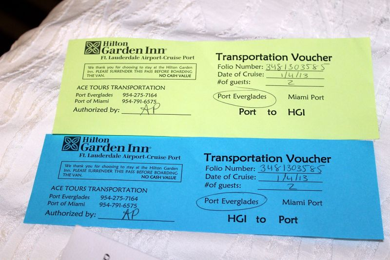 Shuttle tickets
