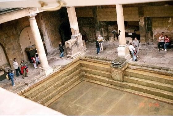 Looking down into the Baths