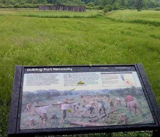 Washington's soldiers build the fort