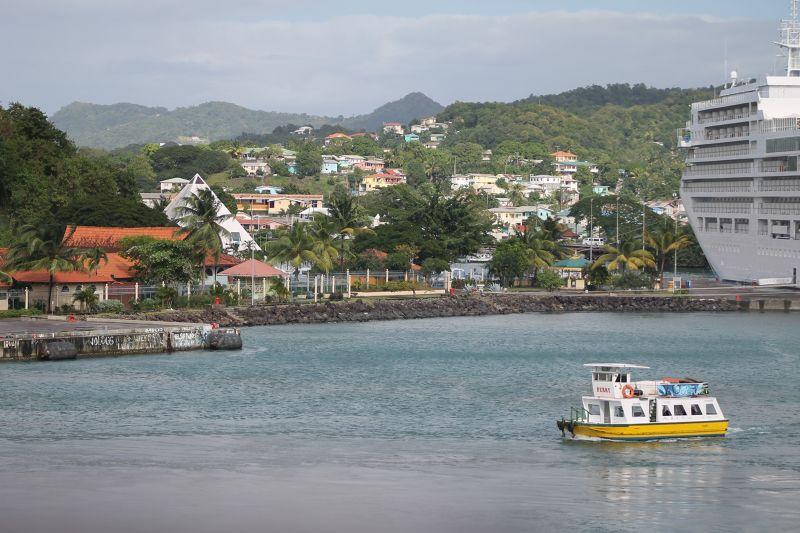 proceeding across the harbor