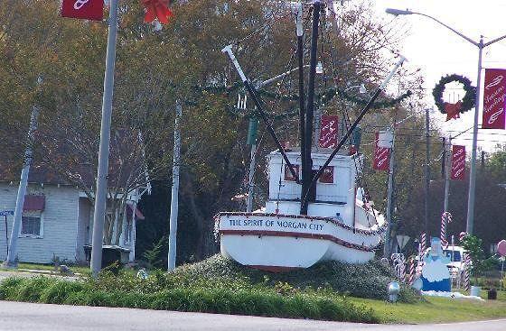 Shrimp boat The Spirit of Morgan City's stern