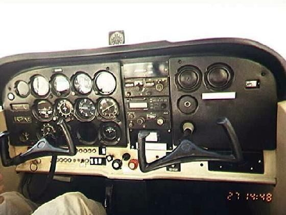 Cockpit from copilot's seat
