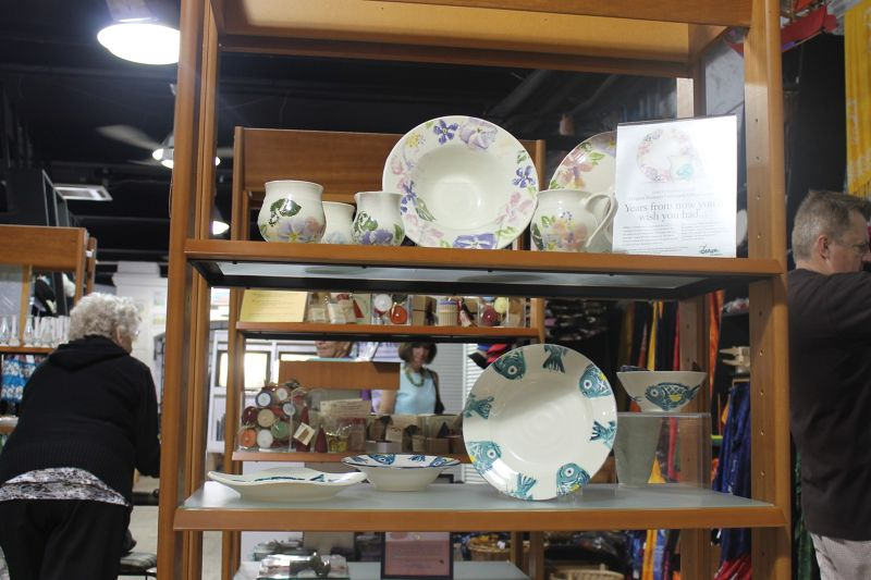 One of the display racks in the Craft center - Bermuda